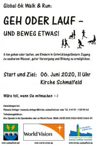 Global 6k - Geh oder lauf und beweg etwas! @ Gnadenkirche Schmalfeld